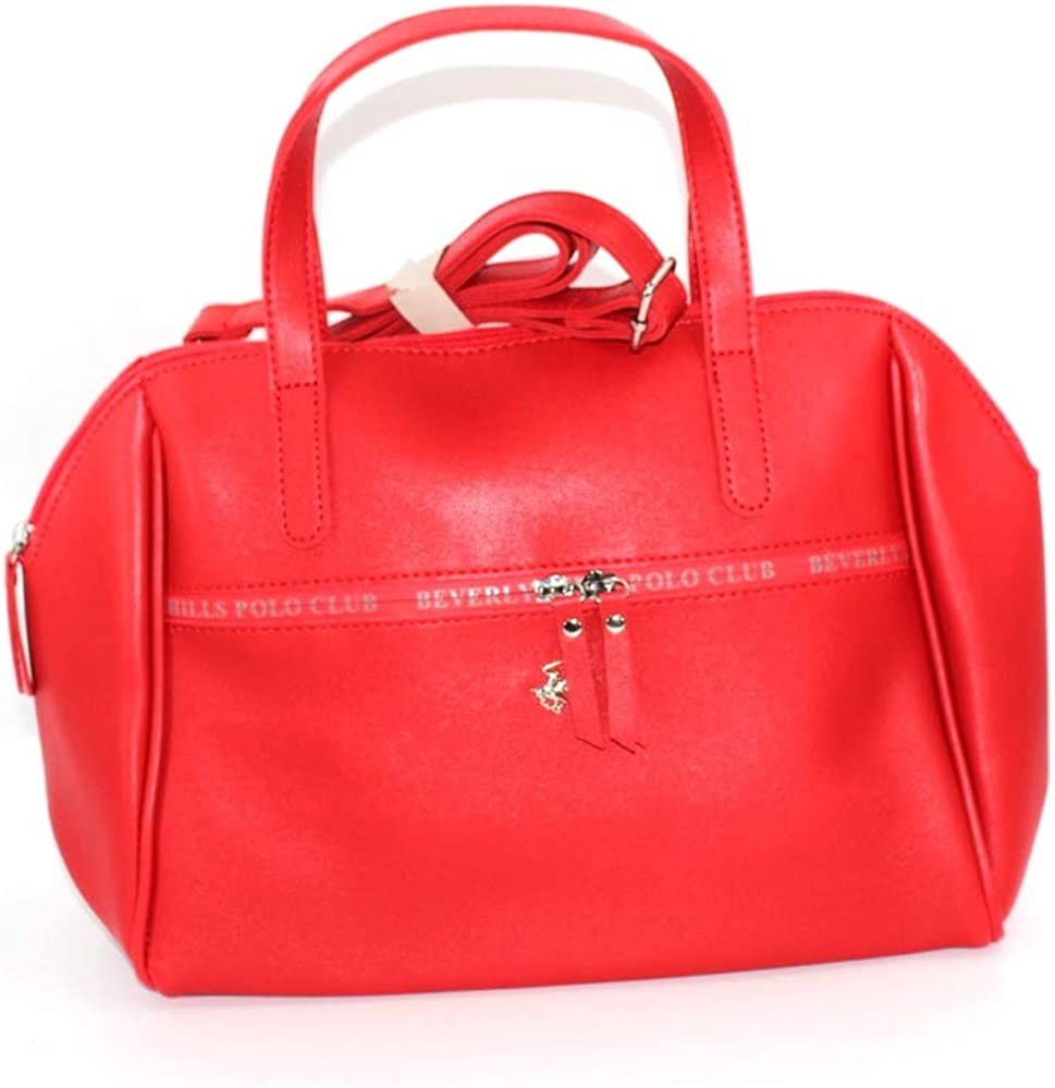 Beverly Hills Polo Club Bolso de mano de color rojo, compartimento ...