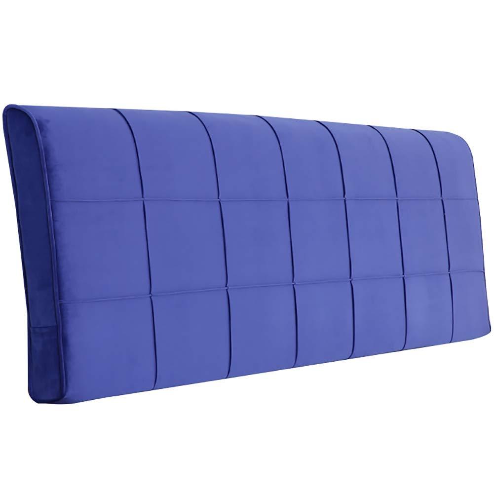 GUOWEI ベッドサイドクッション ヘッドボードなしの布張り ウェッジバックレストサポートスポンジ 5色 5サイズ 120x10x58cm ブルー 120x10x58cm ブルー B07MRDS6H8