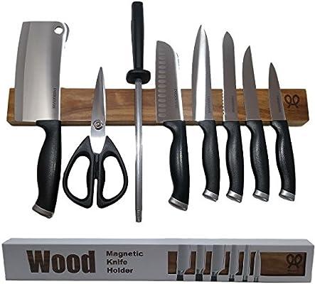Amazon.com: Madera de Nogal magnético cuchillo franja ...