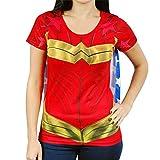 DC Comics Wonder Woman Sublimated Womens Caped T-Shirt | S