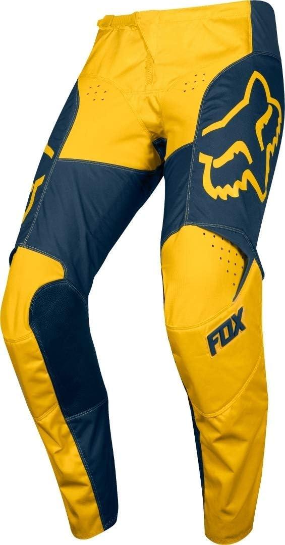 2019 Fox Racing 180 Przm Pants-Navy//Yellow-34