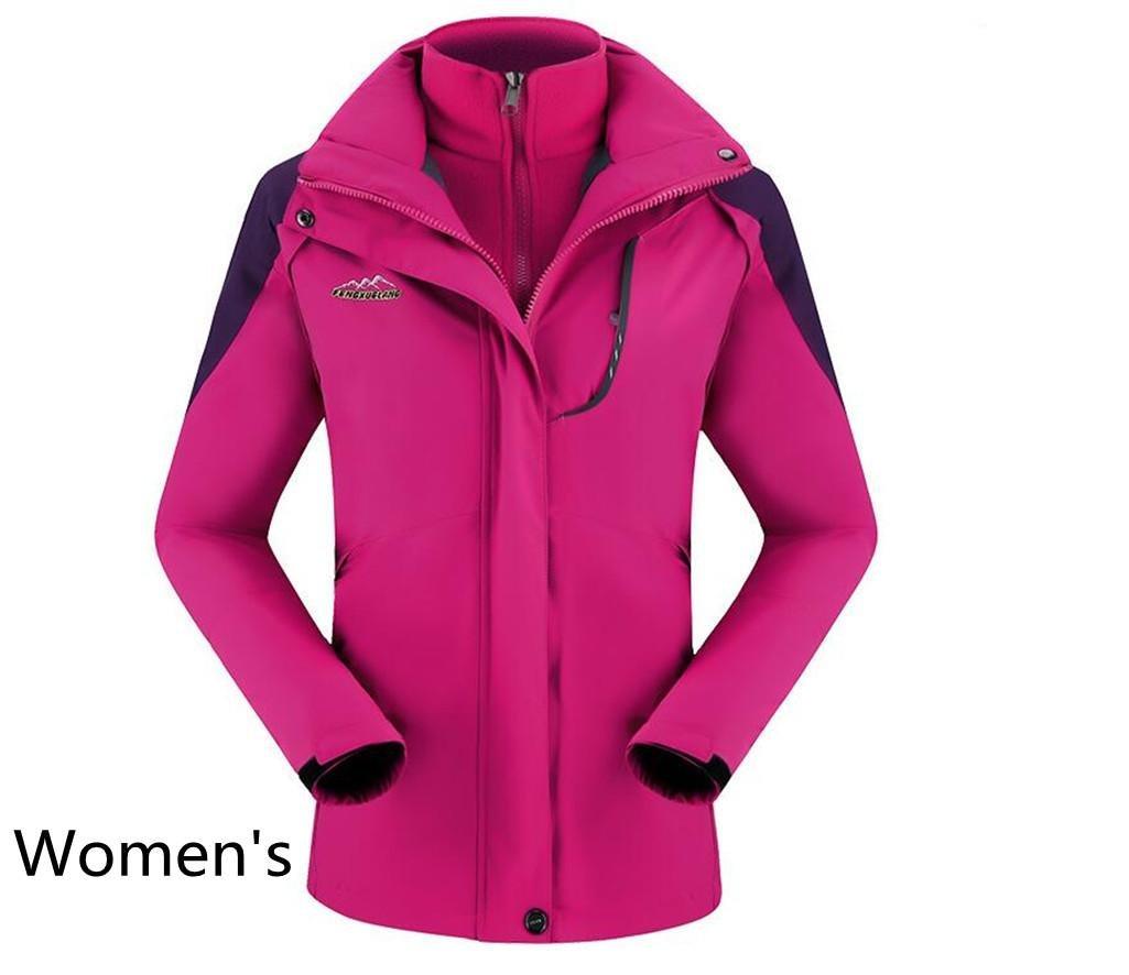 HHORD Herren Damen Soft Shell Jacken große Größe 3-in1-zweiteilige Plus samt Outdoor wasserdicht WindproofCan Werden abgenutzte AloneMountaineering Jacke, 3XL