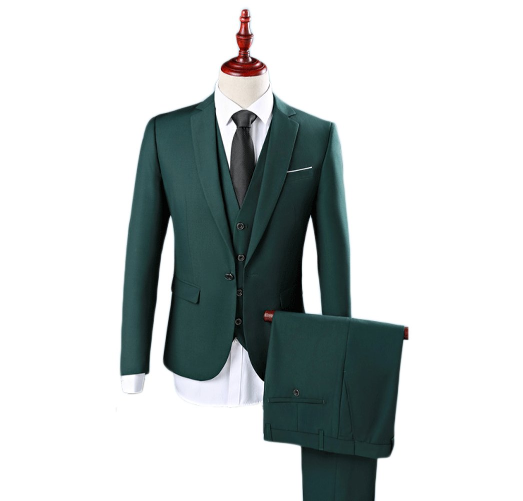 Love Dress Men's Suit 3 Piece Green Men Bestmen Wedding Party Gown 5XL