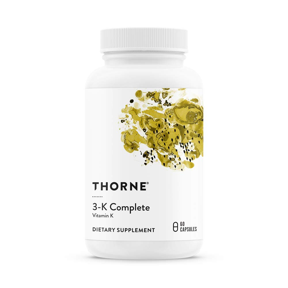 Thorne Research - 3-K Complete - Vitamins K1 and K2 for Heart and Bone Support - 60 Capsules