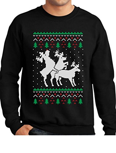 f7acae736 Tstars Funny Ugly Christmas Sweater Party Humping Reindeer ...