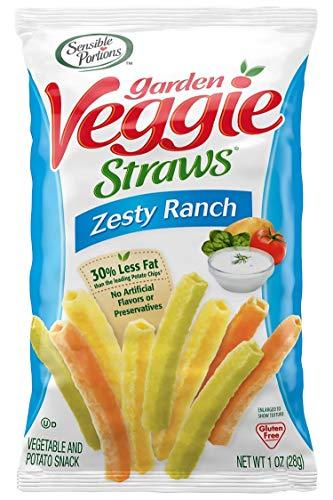 Sensible Portions Garden Veggie Straws, Ranch, 1 oz. (Pack of 24)