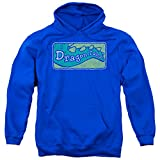 Dragon Tales Animated PBS Series Show Logo Distressed Adult Pull-Over Hoodie