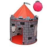 Super Kid Land Children's Play Tent- (Grey Castle Pretend Play House)