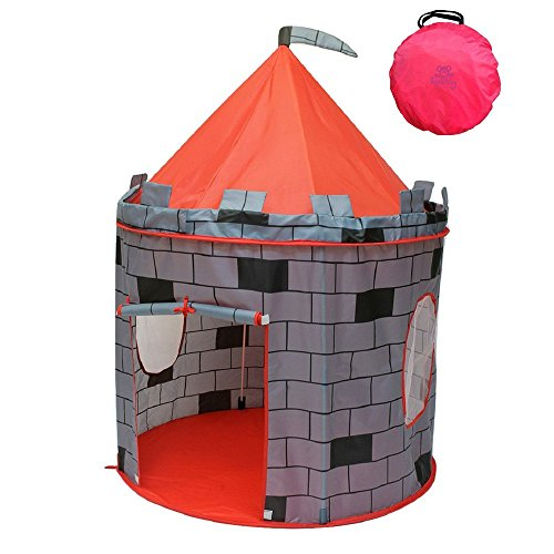 Side Party Tent Pole Frame (Super Kid Land Children's Play Tent - (Grey Castle Pretend Play)