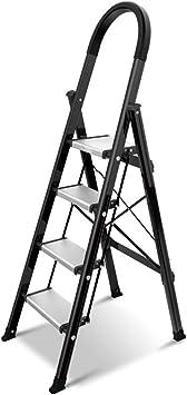 Multifuncional Cuatro pasos de escalera, escalera mecánica Triángulo sujeción segura for la operación de tijera Las escaleras de mano multipropósito de repuesto flor estable (Size : 44.5*75*143cm) : Amazon.es: Bricolaje y herramientas