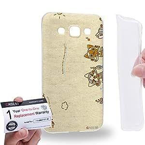 Case88 [Samsung Galaxy E5] Gel TPU Carcasa/Funda & Tarjeta de garantía - Monster Hunter Poka Poka Airou Giri-AiruG Pugi 1146