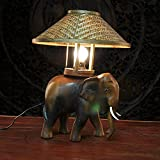 Muidege Thailand New Handicraft, Characteristic Wood Carving Lamp, Wooden Carving, Personality Small Elephant Lamp