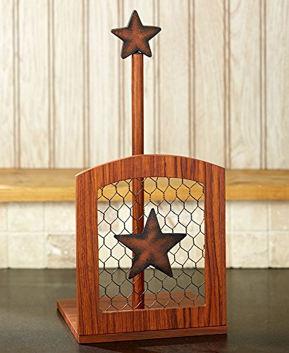 - The Lakeside Collection Country Kitchen Paper Towel Holder-Star