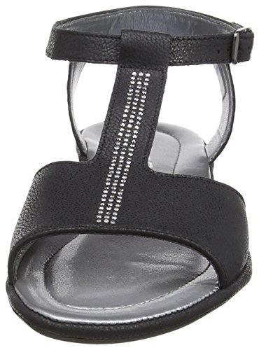 RohdePrag - Sandalias de Punta Descubierta Mujer Negro - Schwarz (90 schwarz)