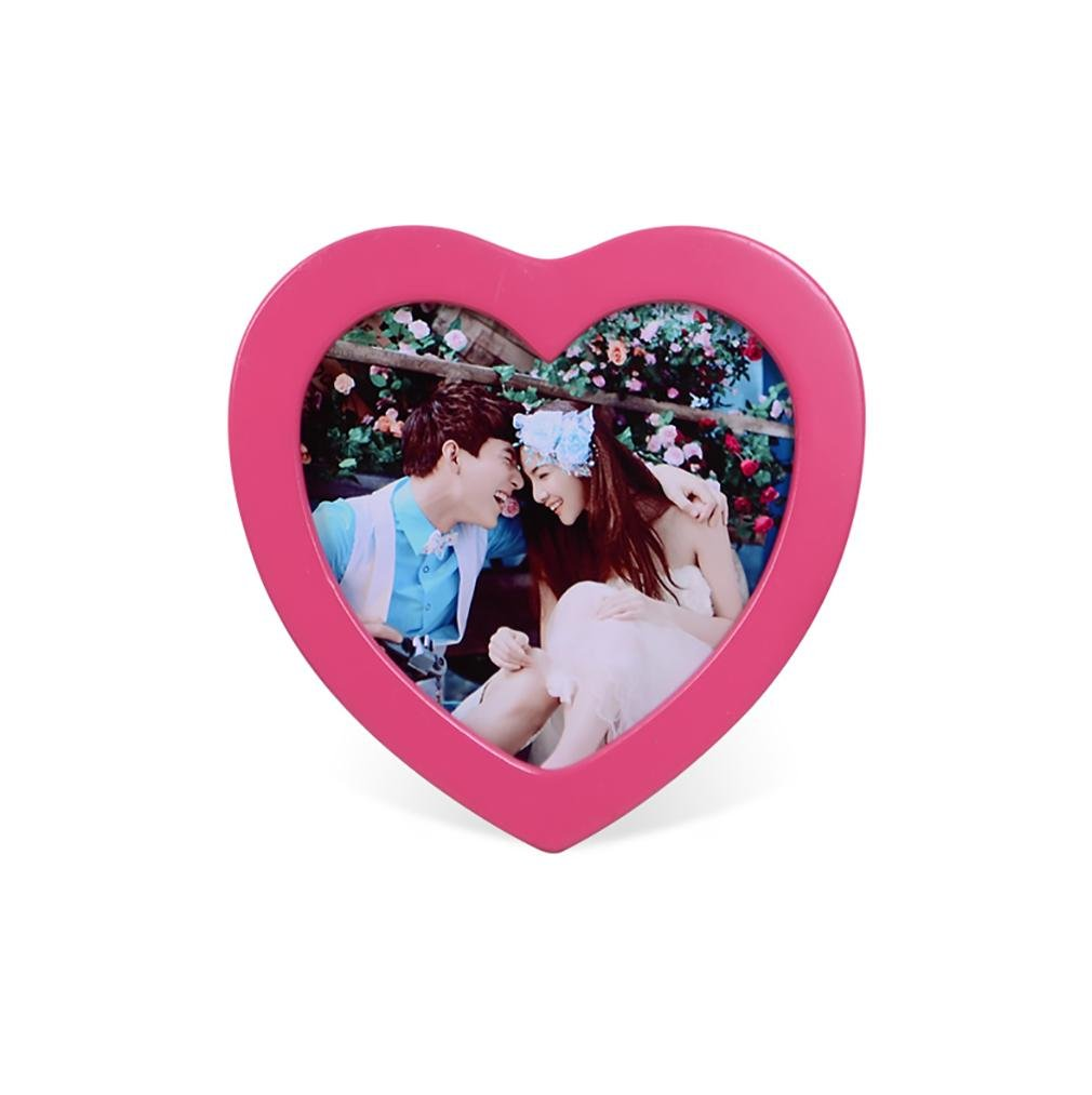 Kevin Personality Heart-Shaped Photo Frame Continental Creative Home Furnishing Decoration , red Photo Frames