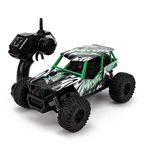 Bestoying Remote Control Car,High Speed Off Road Monster RC Truck - 1/16 Scale 4WD 2.4Ghz Radio Controlled Electric Truggy - Best Gift for Kids and Adults (Green)