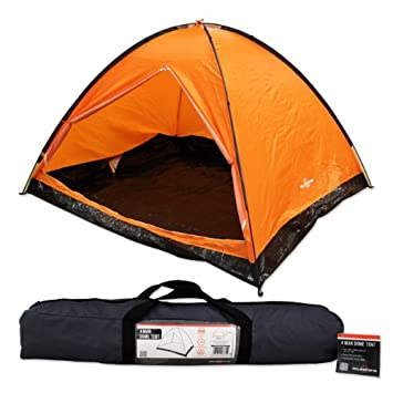 Milestone Dome Tent with Carry Bag (4 Person) Orange  sc 1 st  Amazon.com & Amazon.com : Milestone Dome Tent with Carry Bag (4 Person) Orange ...
