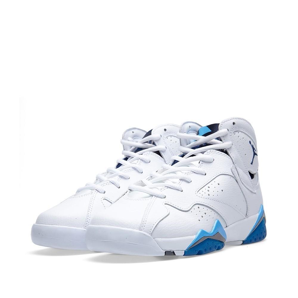 5f400428880b1 Jordan Air 7 Retro BG Big Kids Shoes White/Frech Blue-University Blue-Flint  Grey 304774-107