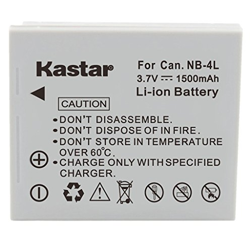 Kastar Replacement Battery NB-4L for Canon PowerShot SD960 IS Digital Camera and More ()