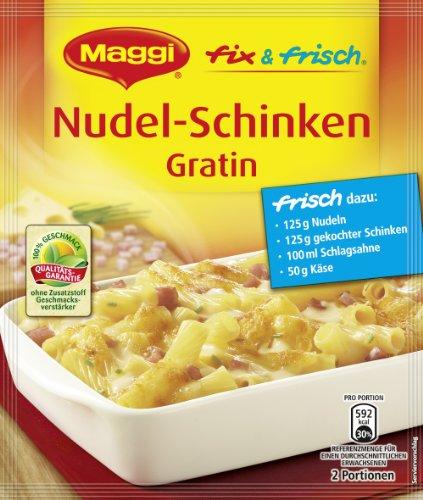 Maggi fix & frisch für Nudel-Schinken Gratin, 45er Pack (45 x 30 g)