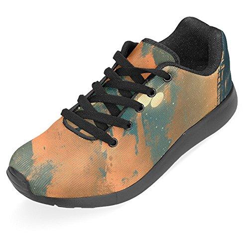 Interessante Womens Jogging Running Sneaker Leggero Go Easy Walking Casual Comfort Running Scarpe Uomo Volare Con Palloncino Luci Al Tramonto Multi 1