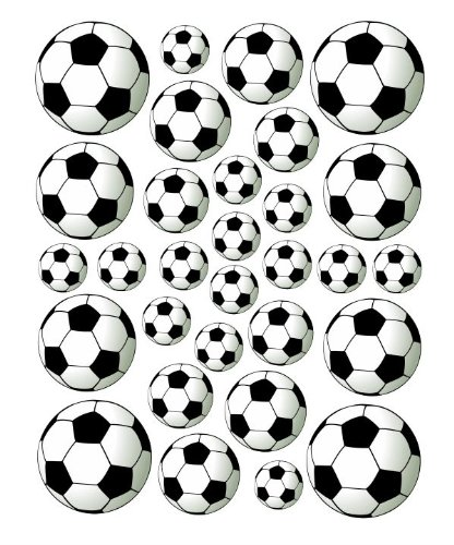 30 Soccer ball Peel and Stick vinyl stickers wall art graphics decal -