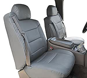 2003 2006 chevy silverado grey artificial leather custom made original fit front. Black Bedroom Furniture Sets. Home Design Ideas