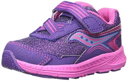 Saucony Girls' Ride 10 JR Sneaker, Purple, 9.5 M US Toddler (Saucony Little Kid)