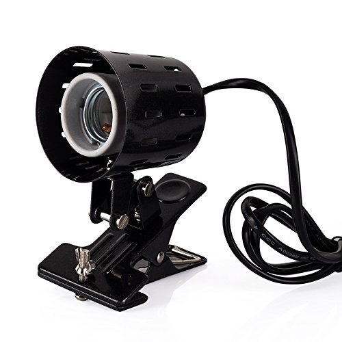 mp Holder,360-degree Rotating Adjustable Clamp Lamp Fixture for Habitat Lighting & Heat Lamp ()
