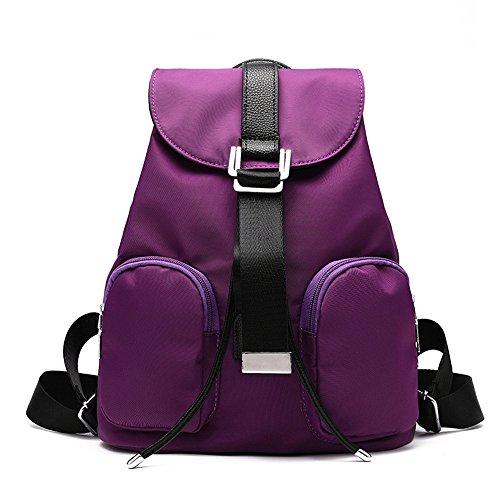 Wewod Bolso Mujer de Oxford tela Mochilas Escolares Backpack Bolsos de Moda Casual Daypack Colegio Bandolera Bolsas de Viaje Sport Bag Mochila para Escuela 28 x 34 x 15 cm (L X H x W ) Púrpura
