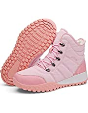 Womens Snow Boots Mens Waterproof Winter Boots Anti-Slip Ankle Boots Warm Fur Lined Man Outdoor Shoes Booties Lightweight