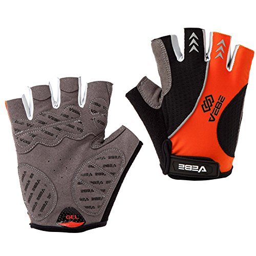 Girls Glove Elite (SBD VEBE Mens Sports Professional Training Biking Riding Gloves Cycling Accessaries,Orange,XL)