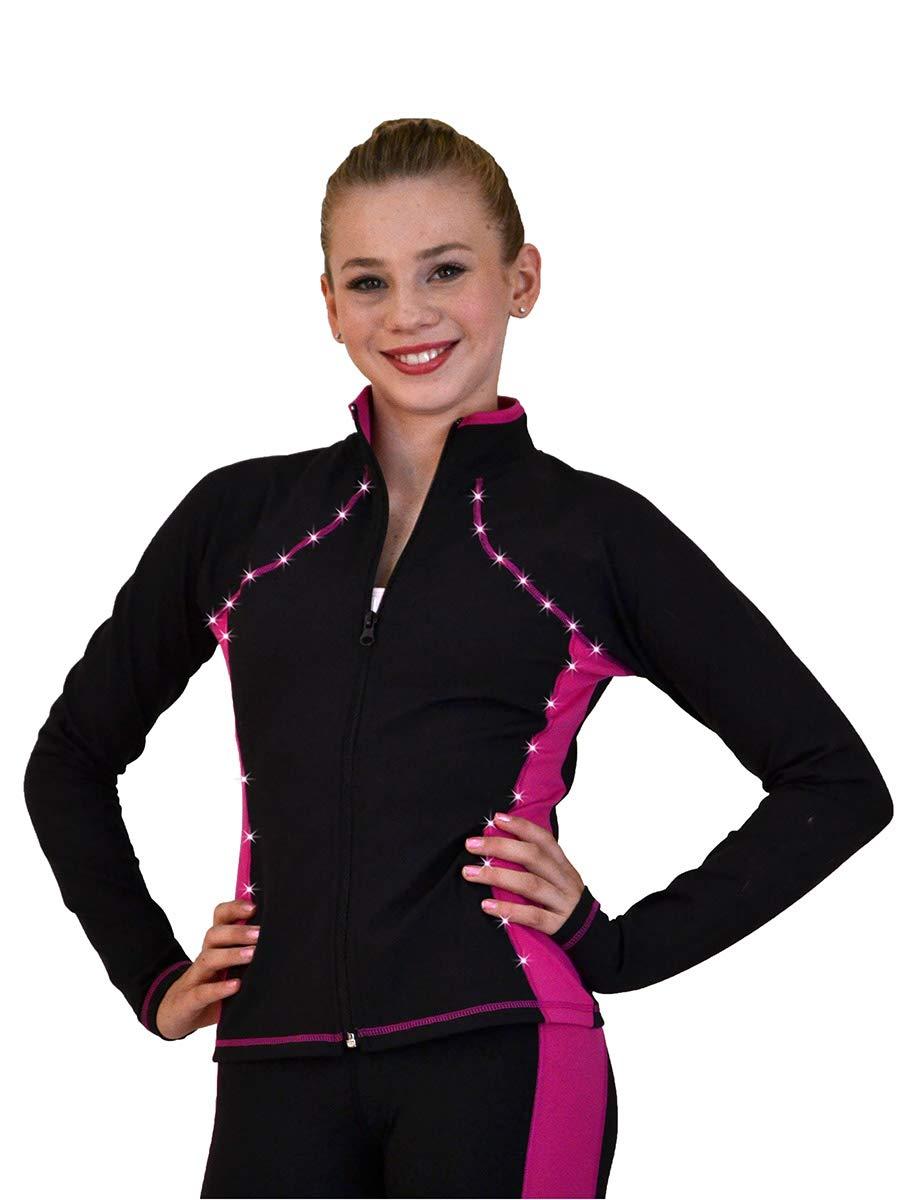 ChloeNoel Supplex Princess Seam Jacket (Fuchsia, CS) by ChloeNoel
