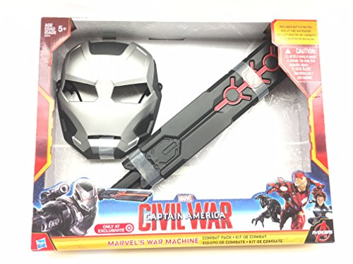 Marvel's captain america civil war iron man war machine mask and baton