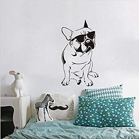 Modeganqingg Diversión Bulldog francés Apliques Habitación ...