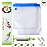 reusable vacuum storage bags - SUNYAO Sous Vide Bags Kit, 20 Reusable BPA Free Food Vacuum Sealed Bags,Reusable & Easy to Use, Practical for Food Storage & Cooking (20)