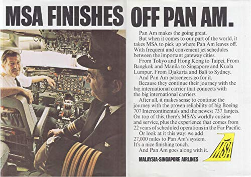 - Malaysia-Singapore Airlines finishes off Pan Am travel agent ad