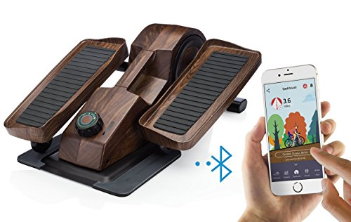 Cubii Desk Elliptical, Bluetooth Enabled, Sync w/ FitBit & Apple HealthKit, Premium Wood Finish, Easy Assembly, Quiet