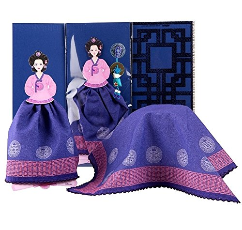 Doll Handkerchief Greeting Card (Violet, The Queen of Joseon Dynasty) - Birthday, Baby, Wedding, Sympathy, Thinking of You, Thank You, Congratulations, X-mas, New Year, Business (New Years Congratulations)