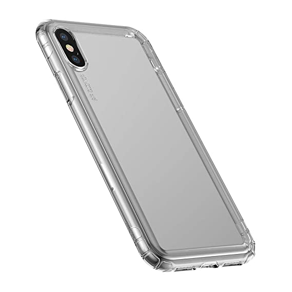 online store ead56 840d8 iPhone Xs Case, Baseus Anti-Knock Phone Case Compatible for iPhone Xs Soft  TPU Silicone Cover Protective Back Case(Transparent Black)
