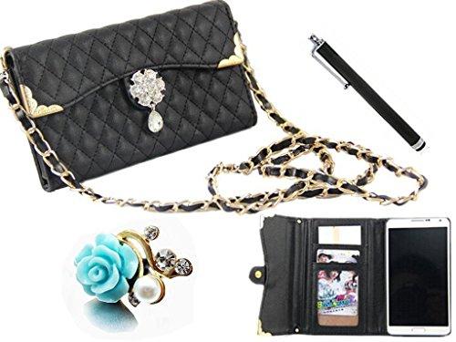 3-in-1 vendot Set accessori Samsung Galaxy S3 SIII I9300 Smartphone (12,2, 2 (10,16 cm) Elegante signora Lady rigida in pelle con custodia Borsa per signora rilievo toomly poposh thuppaki Quilted Cust