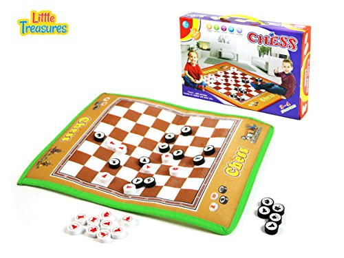 TOY MAT A Game of Skill and Strategy, This Giant Chess Board Game is an Ideal Set for Beginners- Preferable for Kids of Age 3+