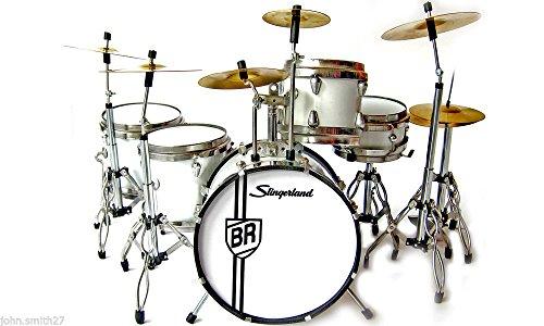 Miniature Drums Buddy Rich The World's Greatest Drummer Slingerland Metal Hoop - DECORATIVE MODEL