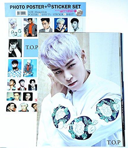 BIGBANG ビッグバン TOP トップ【 ポスター 12枚 (A3サイズ) + ステッカー セット+メッセージカード 】14点セット