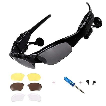 Amazon.com: Gafas de sol inalámbricas con Bluetooth, estéreo ...