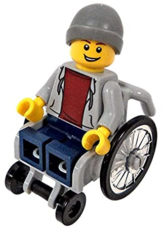 LEGO Town City Fun in the Park Minifigure - Disabled Handicapped Man ...