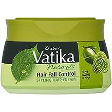 Dabur Vatika Naturals Hair Fall Control Styling Hair Cream with Olive, Cactus, and Henna Anti-Chute (7.10 fl oz) - Packaging may vary