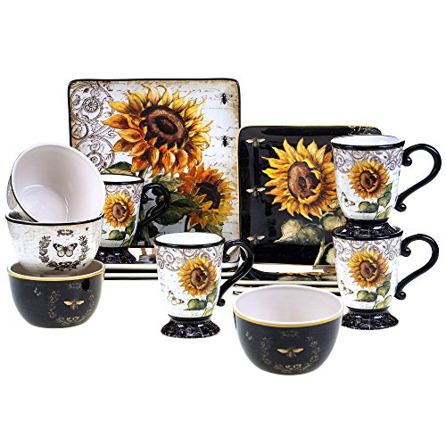 Certified International Dishes (Certified International Corp 89093 French Sunflower Dinnerware Set, Multicolor)