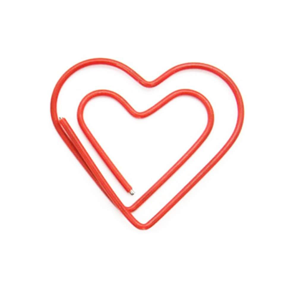 ペーパークリップ クリエイティブ 動物の形 しおり オフィス 学校 ノート用  Red Love Heart B07N51PR3X