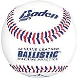 Baden Ballistic Leather Pitching Machine Baseballs, (One Dozen)